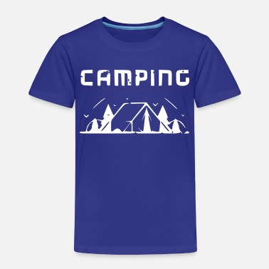 Alps Camping tent Wildlife Sujet white - Toddler Premium T-Shirt