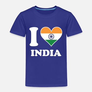Indian I Love India Indian Flag Heart - Toddler Premium T-Shirt