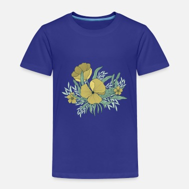 Illustrated Flowers - Toddler Premium T-Shirt