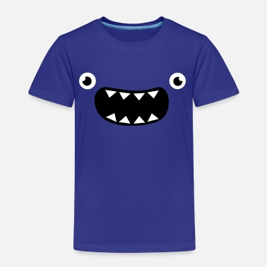 Funny Face Cute Monster Funny Monster Face - Toddler Premium T-Shirt