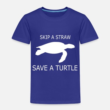 Straw A STRAW FOR A TURTLE - Toddler Premium T-Shirt