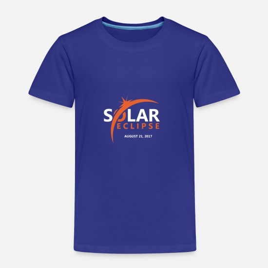 Power Baby Clothing - SOLAR ECLIPSE - Toddler Premium T-Shirt royal blue