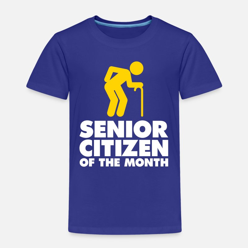 Retirement Baby Clothing - Senior Of The Month - Toddler Premium T-Shirt royal blue