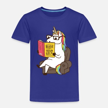 Unicorn Unicorn Believe in Yourself Magical Fabulous - Toddler Premium T-Shirt