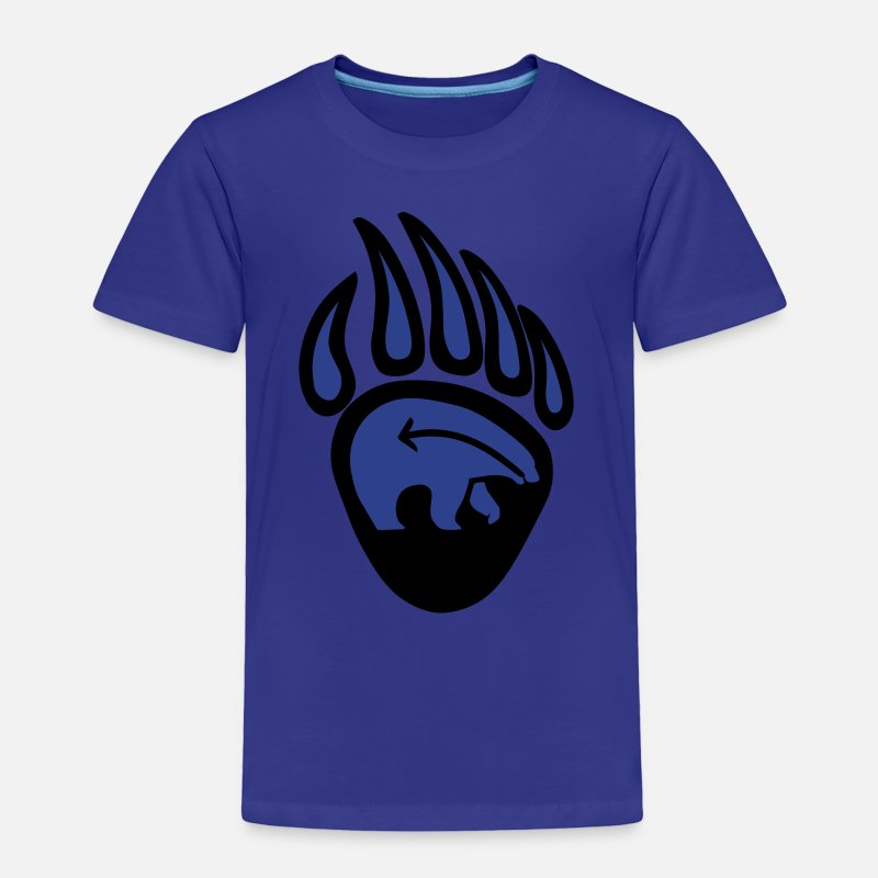 Paws Baby Clothing - Tribal Bear Claw First Nations Art - Toddler Premium T-Shirt royal blue