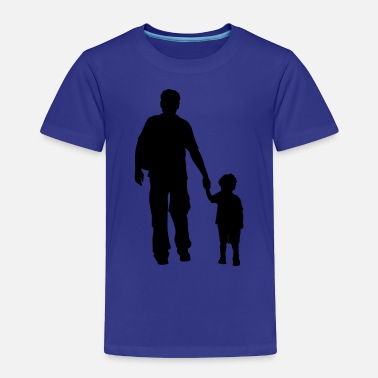 Son walking dad and son silhouettes - Toddler Premium T-Shirt