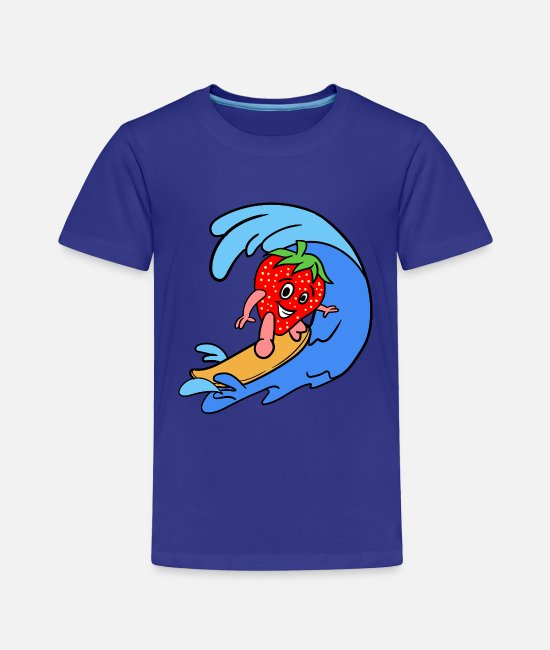 Sports Baby Clothing - Sporty Strawberry - Toddler Premium T-Shirt royal blue