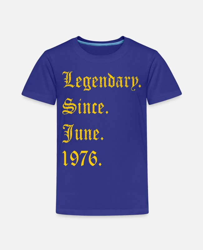 October T-Shirts - T-Shirt Legendary Since 1976-png - Toddler Premium T-Shirt royal blue