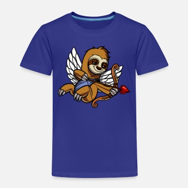 Funny Valetines Day Sloth Cupid Valetines Day Cute Animal - Toddler Premium T-Shirt
