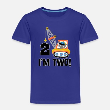 Old 2nd Birthday Boys Construction Truck - Toddler Premium T-Shirt