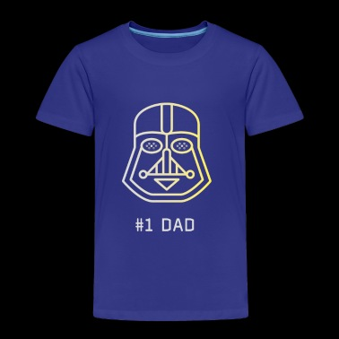 darth #dad father dark side maske nerd lightsaber - Toddler Premium T-Shirt