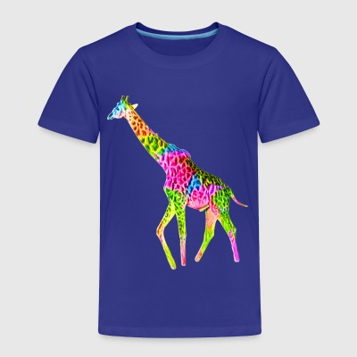Colorful Giraffe - Toddler Premium T-Shirt