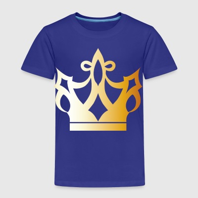 Cool King prince gold VIP crovn lable vector image - Toddler Premium T-Shirt