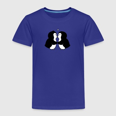 Penguins In Love Humour Logo - Toddler Premium T-Shirt