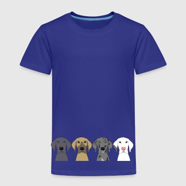 Four Great Dane Heads - Toddler Premium T-Shirt