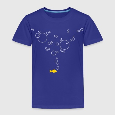 Fish with bubbles - Toddler Premium T-Shirt