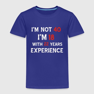 40th birthday designs - Toddler Premium T-Shirt