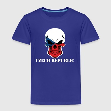 Czech Flag Skull Czech Republic - Toddler Premium T-Shirt