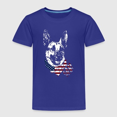 German Shepherd USA Shirt - Toddler Premium T-Shirt
