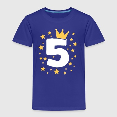 Kids Birthday 5 Year Boy King Girl Princess Crown - Toddler Premium T-Shirt