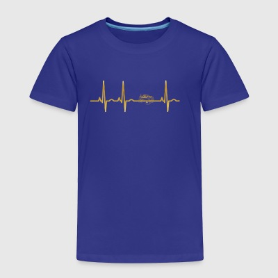 evolution ekg heartbeat Big Foot monster truck - Toddler Premium T-Shirt