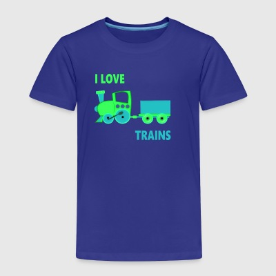 I Love Trains - Toddler Premium T-Shirt
