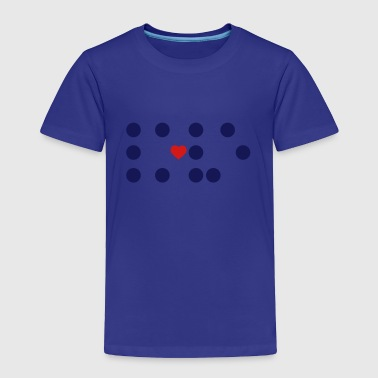 Braille - dots and a heart - Toddler Premium T-Shirt