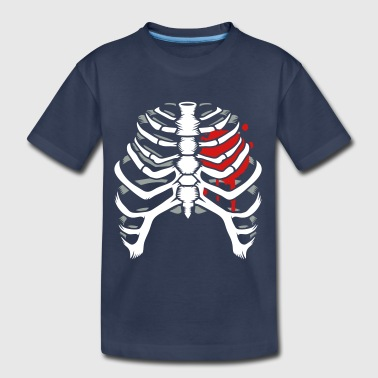 A skeleton of a human thorax - Toddler Premium T-Shirt