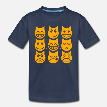 Cat The 9 Lives of the Emoji Cat - Toddler Premium T-Shirt