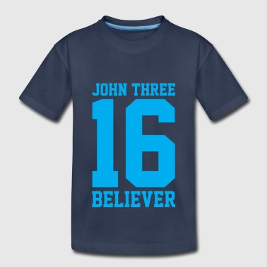 Bible John 3:16 Believer, Lite Blue, Christian - Toddler Premium T-Shirt