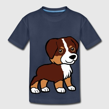 aussie red tri cartoon - Toddler Premium T-Shirt