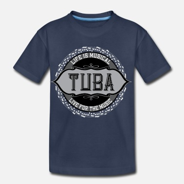Tuba Tuba White Music Note Circle - Toddler Premium T-Shirt