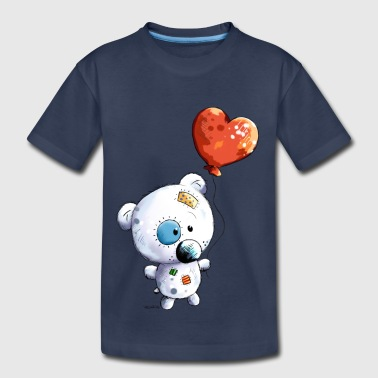 Cute Teddy With Balloon - Gift - Baby - Kids - Toddler Premium T-Shirt