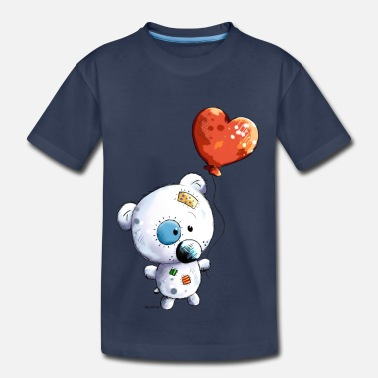 Cute Kids Cute Teddy With Balloon - Gift - Baby - Kids - Toddler Premium T-Shirt
