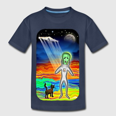 Alien Cat Scream - Toddler Premium T-Shirt