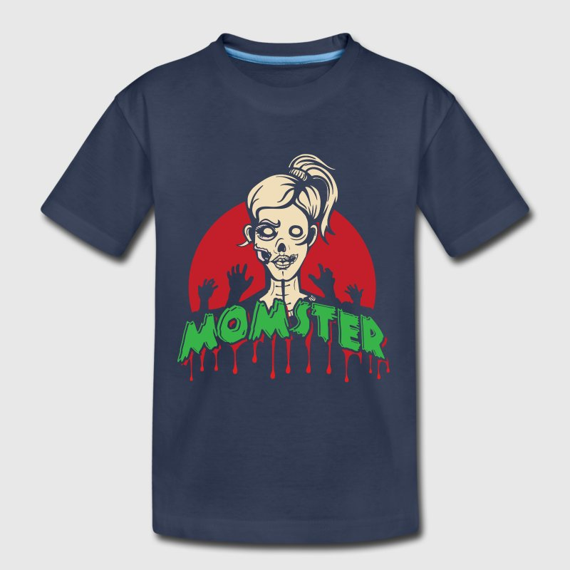 Funny Parents Mom Halloween Costume Momster Zombie - Toddler Premium T-Shirt