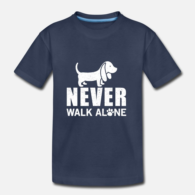 Alone Baby Clothing - Never walk alone - Toddler Premium T-Shirt navy