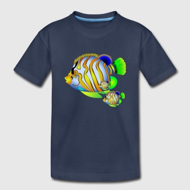Blacklight Yellow Color fish - Toddler Premium T-Shirt