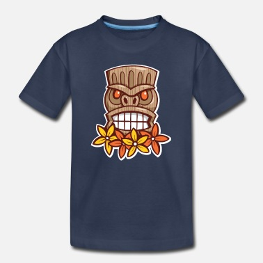 Hawaiian Big Grin Tiki - Toddler Premium T-Shirt