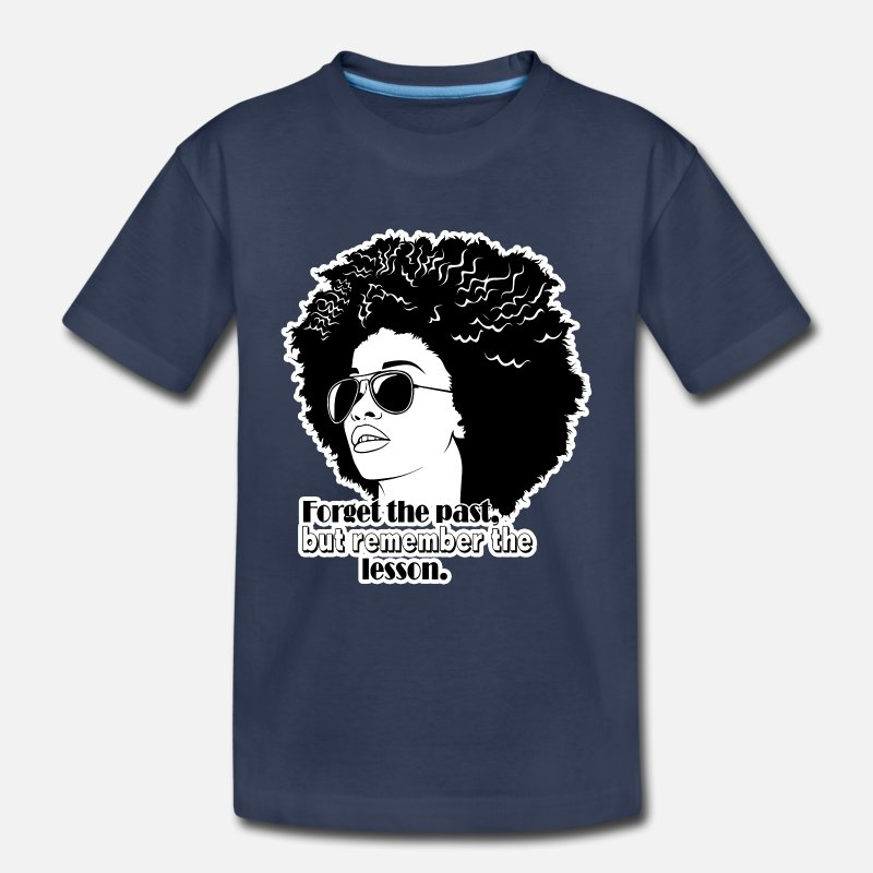 Afro Woman Black Hair Style Natural Confident Toddler Premium T