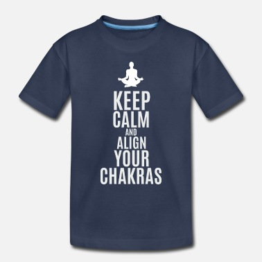 Om Keep calm and align your chakras - Toddler Premium T-Shirt