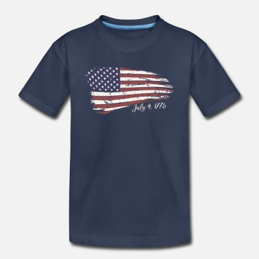 Independence Day Independence Day 4th of July American Flag 1776 - Toddler Premium T-Shirt