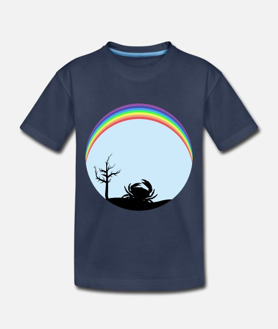 Grungy Baby Clothing - Crab 1crab crab - Toddler Premium T-Shirt navy