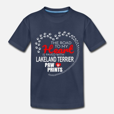 Paw Print The Road To My Heart Is Paved With Lakeland - Toddler Premium T-Shirt