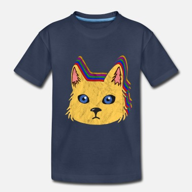 Nineties Vintage Retro Cat | 80's 90's Colorful Gift Idea - Toddler Premium T-Shirt