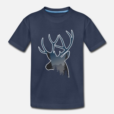 Raider buck deer doe elk moose reeindeer gift wilderness - Toddler Premium T-Shirt