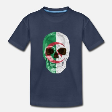 Skull Flag Of Algeria - Toddler Premium T-Shirt