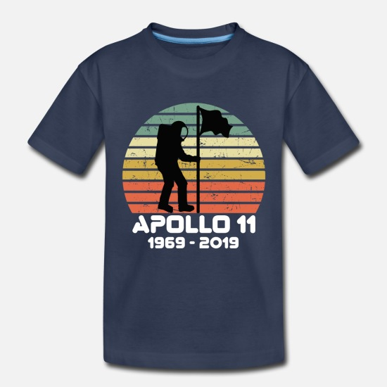 Nasa Baby Clothing - 50ème Anniversaire Apollo 11 1969-2019 - Toddler Premium T-Shirt navy