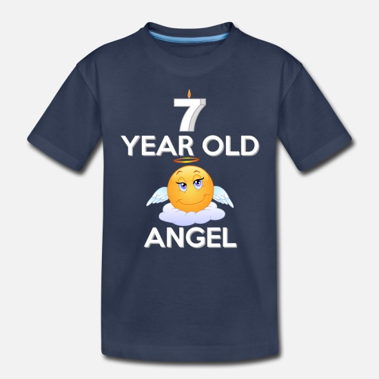 Birthday Baby Clothing - 7 Year Old Angel - Toddler Premium T-Shirt navy