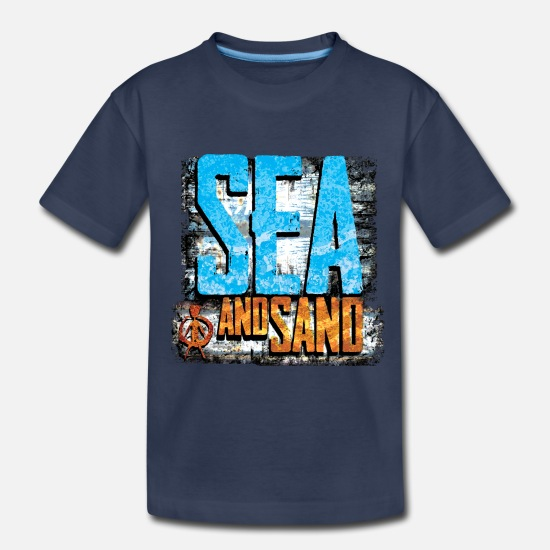 Surfer Baby Clothing - sea and sand - Toddler Premium T-Shirt navy